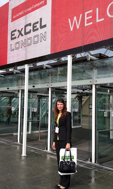 Anna-Christina at The Business Show 2016 outside of ExCel London image