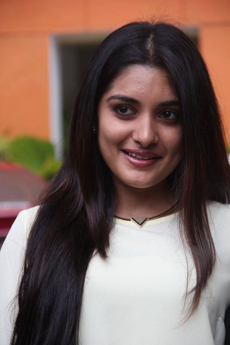 Niveda Thomas Face Close Up Photos In White Dress