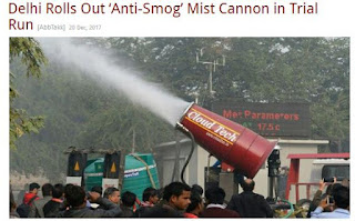 'Anti-Smog' Mist Cannon in Trial Run