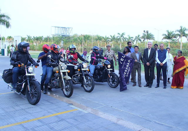 Novotel Hyderabad Airport flag offs the Woman Bikers Expedition