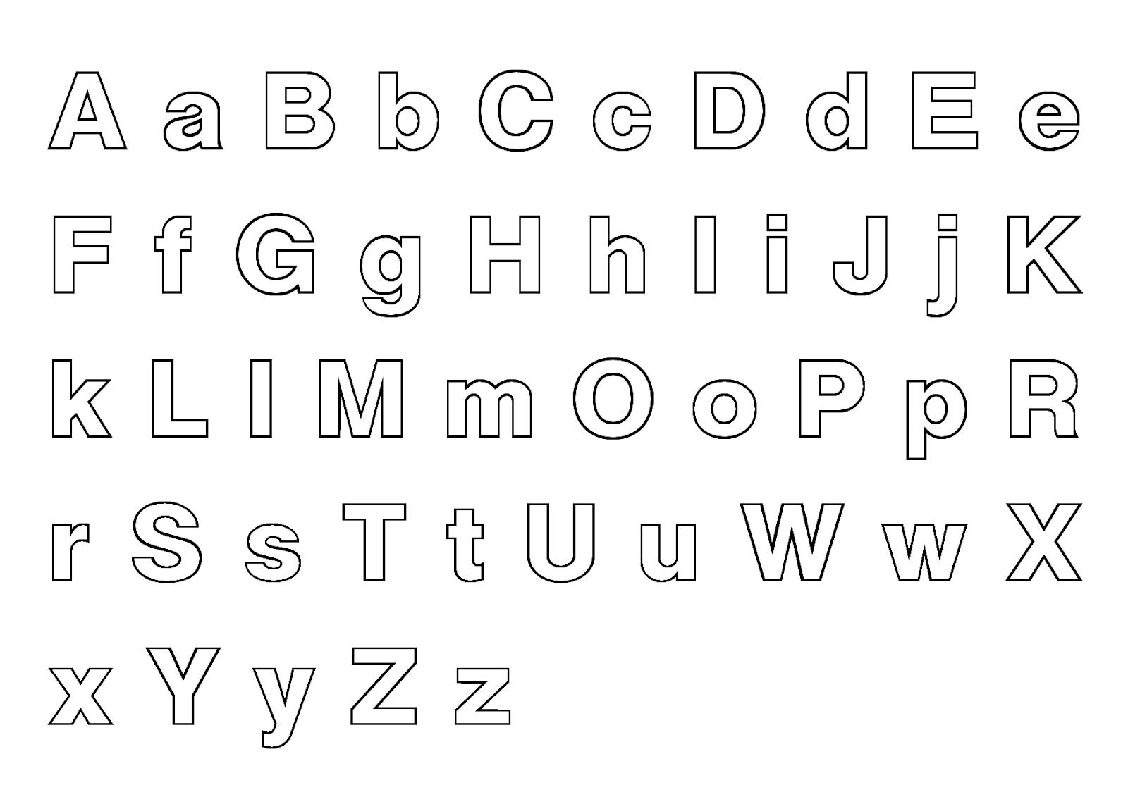 litery do druku szablony