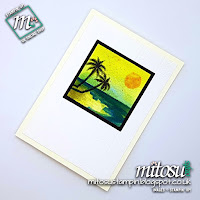 Stampin' Up! Waterfront & Brusho Card with Frame Idea order SU craft from Mitosu Crafts UK Online Shop