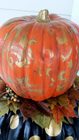 hand painted foam pumpkin