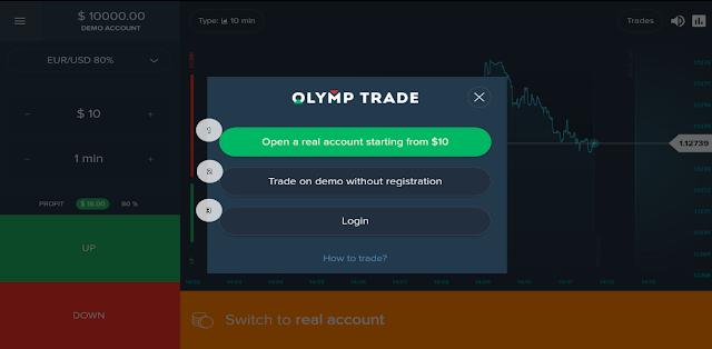 Мобильное приложение ОлимпТрейд