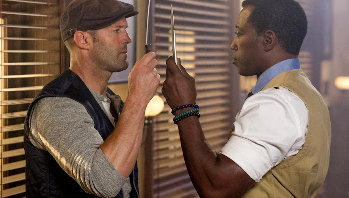 Jason Statham şi Wesley Snipes în The Expendables 3