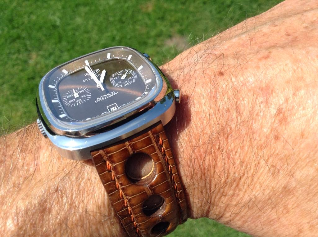 Andy's TAG Heuer Silverstone on Walnut Teju Lizard Rally Strap