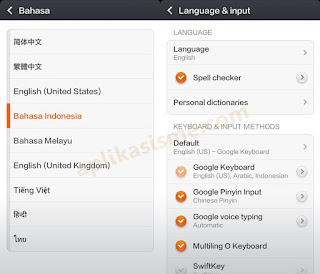 Cara merubah bahasa whatsapp