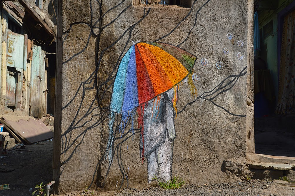 Pune Street Art Project Mural Kasba Peth little girl