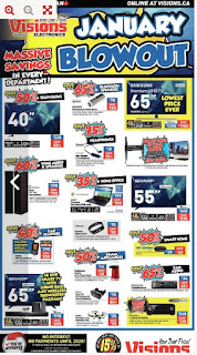 Visions Electronics Flyer Weekly January 18 - 24, 2019 January Blowout