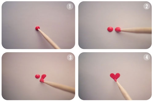tutorial cuore nail art