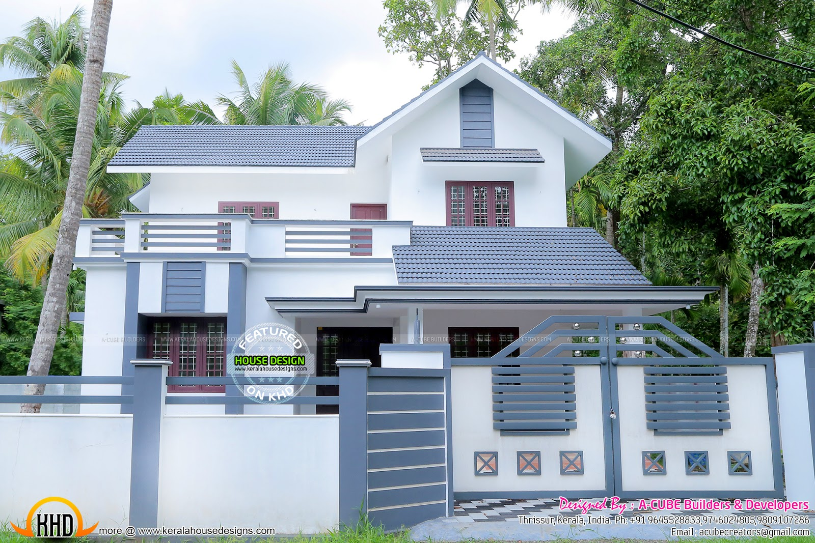 work completed house in 1983 sq ft kerala home design and floor plans. Black Bedroom Furniture Sets. Home Design Ideas