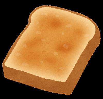 こんがり焼けたトーストのイラスト