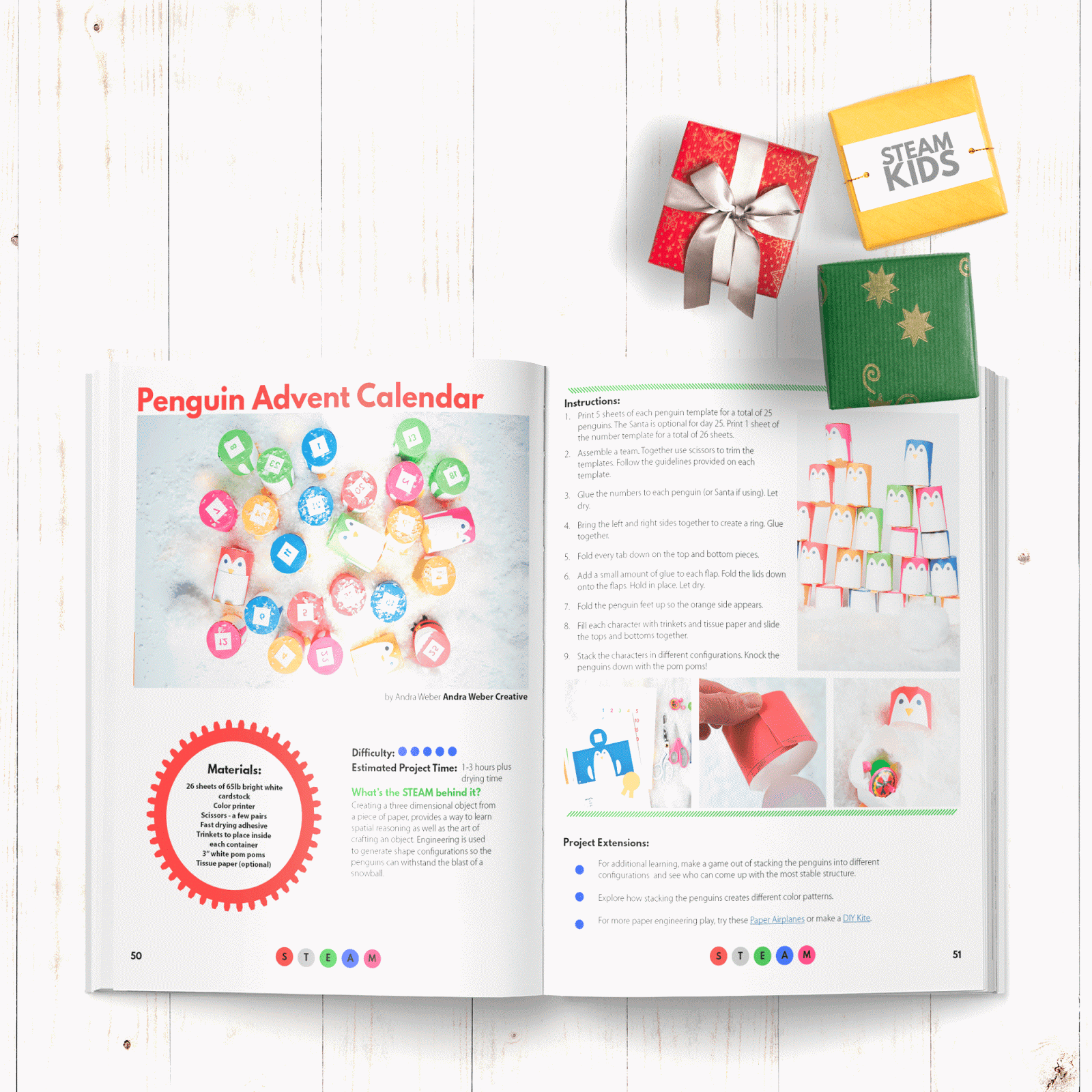 STEAM KIDS Christmas - the follow on book to the number #1 selling STEAM KIDS book which is inspiring our next generation of inventors, innovators and leaders. This Christmas ebook has over 25 days of holiday projects to try with your kids | you clever monkey