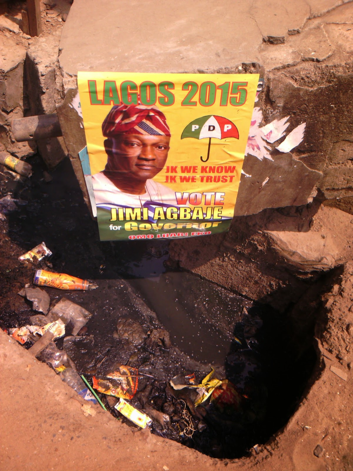 agbaje campaign poster gutter