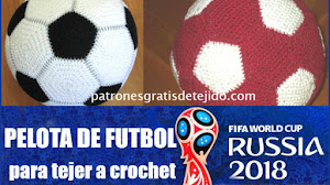 Vamos a Tejer una Pelota de Fútbol a Crochet mientras esperamos el Mundial de Rusia 2018