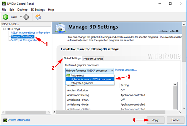 Determine and set primary graphics card on Windows