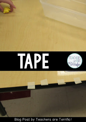 STEM Challenges: Here's what I do to help first graders with their tape! Read the blog post for more ideas for first and second graders!