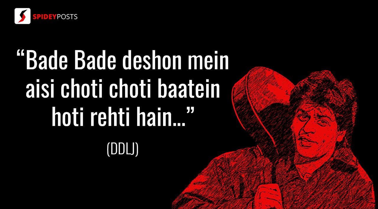 DDLJ - 10 best dialogues of Shah Rukh Khan