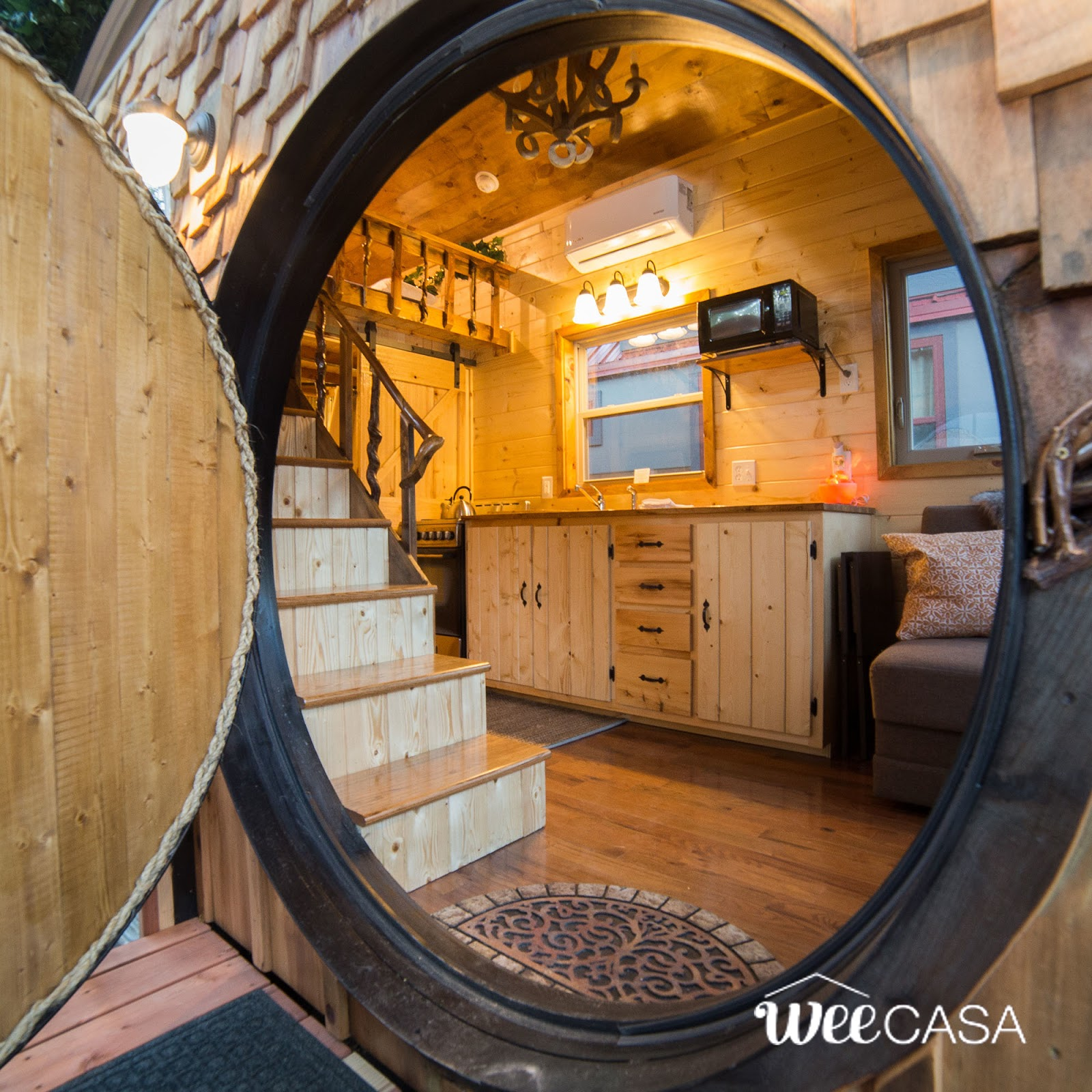TINY HOUSE TOWN: The Hobbit House (170 Sq Ft