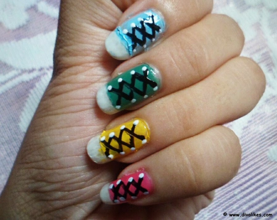 323bbf1017d2e4 This is an out of the box nail art which is super fun to do. If you are  missing your school days