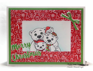 North Coast Creations Stamp Set: Very Merry, Paper Collection: Very Merry, Custom Dies: Double Stitched Rectangles, Pierced Rectangles, Circle Ornaments, Holiday Words