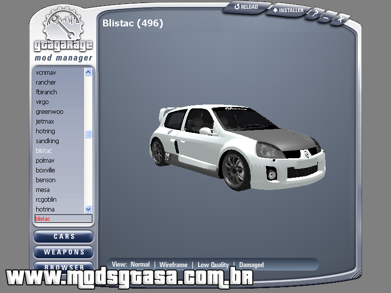 GGMM - GTA Garage Mod Manager - Mods GTA San Andreas