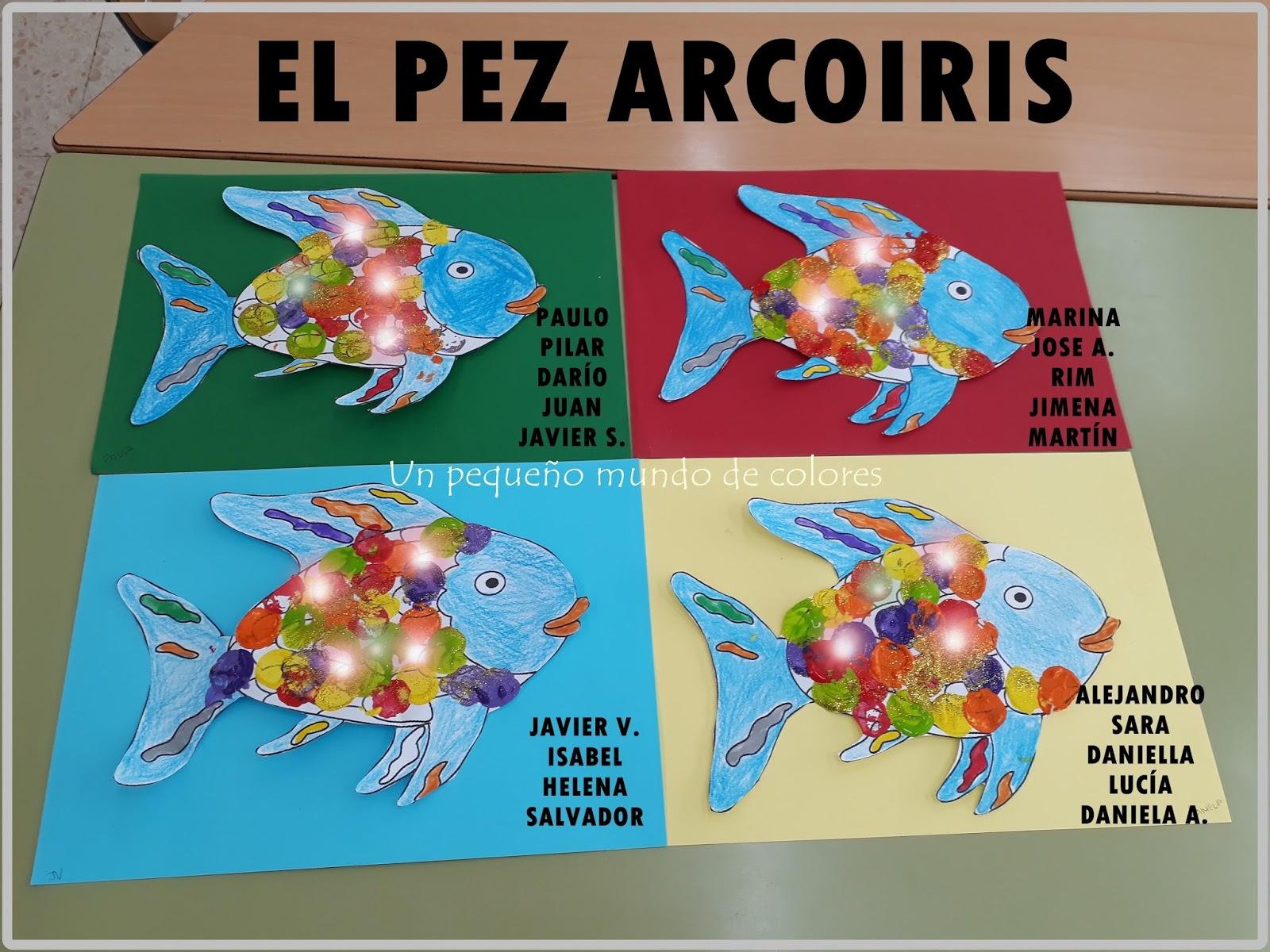 Lujo Plantilla De Peces Arco Iris Foto - Ejemplo De Colección De ...