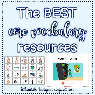 Resources for Core Vocabulary in Special Education