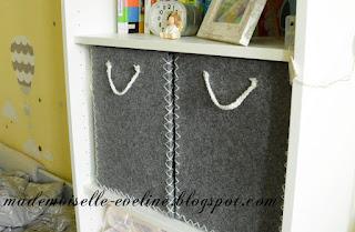 DIY: filcowe pudełko, kosz z filcu, organizer z filcu