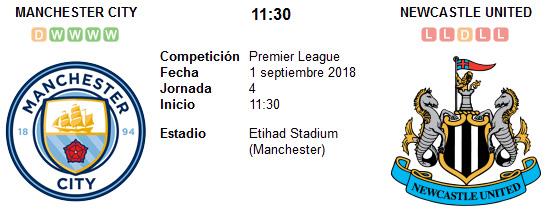 Manchester City vs Newcastle en VIVO
