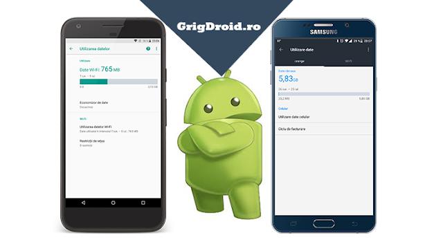 Cum să monitorizezi și să limitezi traficul de internet/de date pe un telefon Android, pentru a nu face cost suplimentar