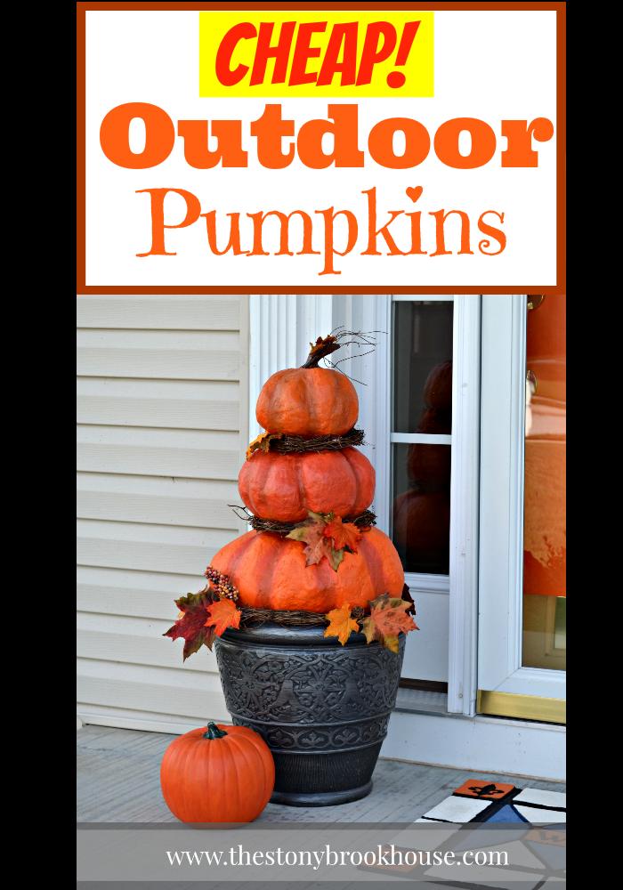 DIY Outdoor Real Looking Pumpkins