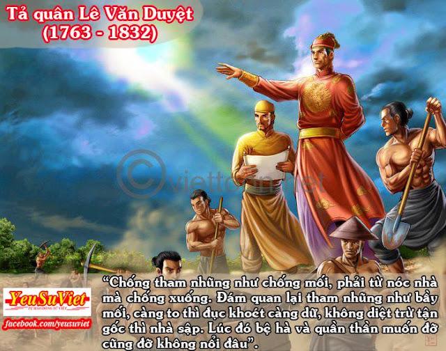 13 câu nói đáng nhớ nhất trong lịch sử Việt Nam, yêu sử việt, lê văn duyệt, lịch sử việt nam, lịch sử việt nam qua các thời kỳ