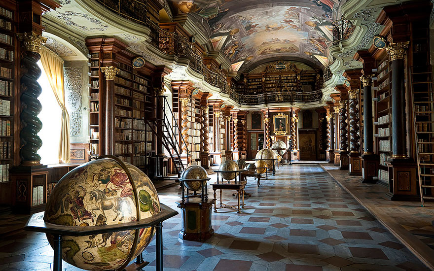 Las bibliotecas más bonitas del mundo, clementinum, praga