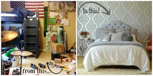 girls glam bedroom makeover, teenager,