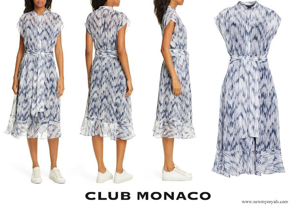 Meghan Markle wore Clup Monaco Dremah Silk Midi Dress
