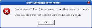 مشكلة كيفية حذف الملفات المستعصية من الويندوز؟