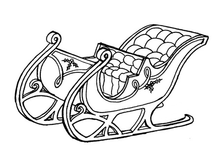 Coloring pages of santas sleigh ~ Santa's Sleigh Coloring Pages | Santa Claus And His Sleigh ...