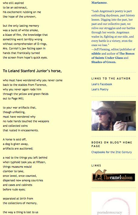 Leah Angstman Poetry