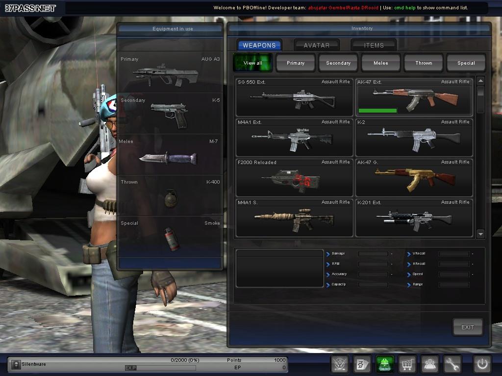 patch weapon fix pb offline