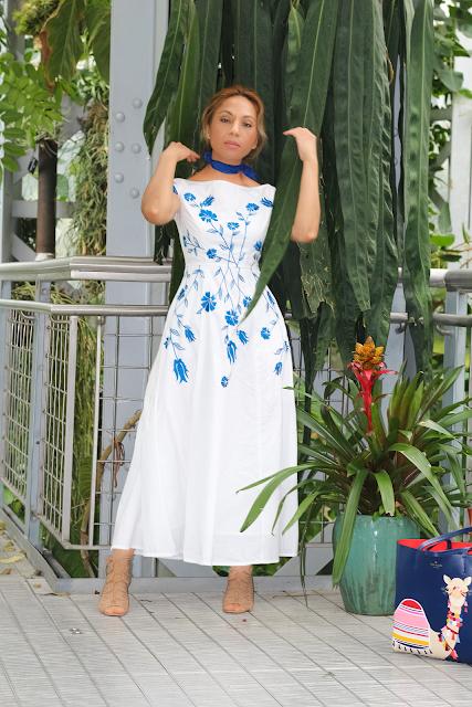 eShakti Floral Maxi Dress