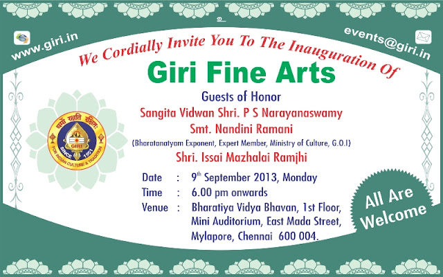GIRI Fine Arts Inauguration