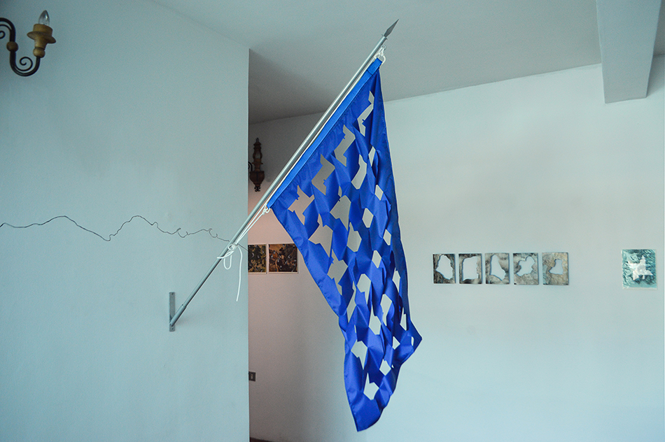 De la serie Banderas para el recuerdo de Manuel Eduardo Gonzalez en la Macolla Creativa