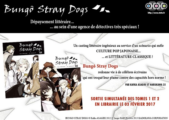 Actu Manga, Bungo Stray Dogs, Manga, Ototo, Seinen,