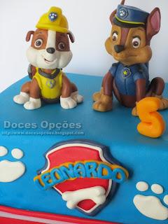 bolos festas aniversário patrulha pata doces opções