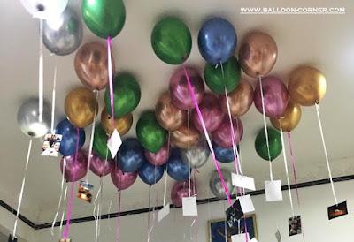 Ide Dekorasi Balon Plafon Dari Balon Latex Chrome