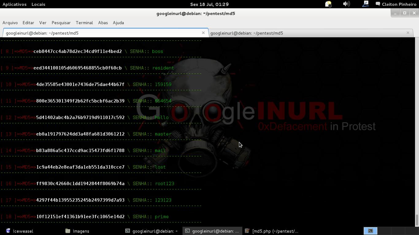 """Deve-se usar o proxy tor, pois ao indentifcar um """"x"""" numero de requisições em seus servidores o md5.gromweb.com efetua o devido bloquio, com isso o script identifica e já renova seu ip na rede tor."""