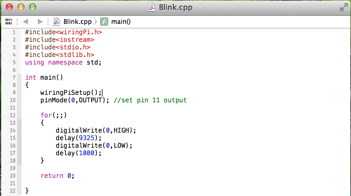 Raspberry Pi Loves Fish Wiringpi Library Install A Small C Program To Test And Gpio Pins