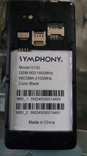 Symphony v130 firmware frp remove 100% tested without password