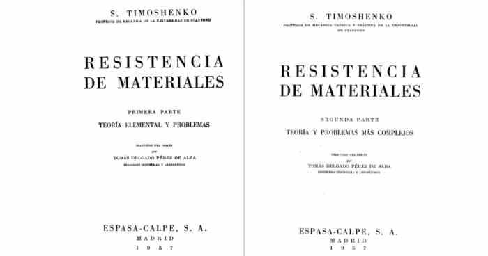 descargar libro en pdf Resistencia de Materiales - S. Timochenko